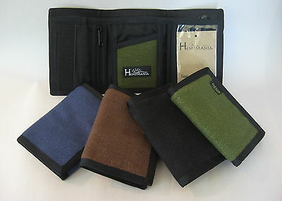 Men's Hemp Eight Compartment Trifold Wallet