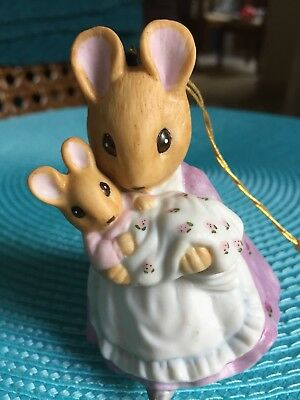 F.W. Co 1990 mother mouse and baby ornament/ figurine