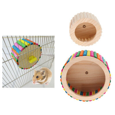 Natural Wooden Hamster Chinchilla Super Silent Stable Running Exercise Wheel Toy