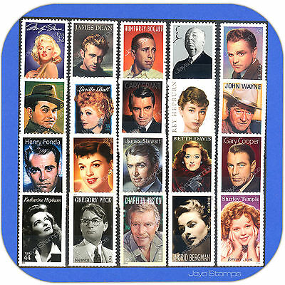 1995 - 2016  LEGENDS OF HOLLYWOOD Series TRUE  Complete Set of 20 Stamps w/Bonus