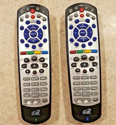 *LOT OF 2* DISH NETWORK 21.0 IR/UHF Remote Controls 155694, or 173954