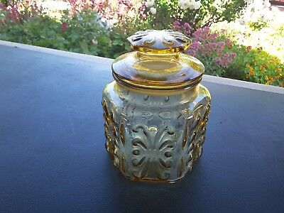 Vintage Retro cannister  Airtight Glass Kitchen Storage Jar - VGC