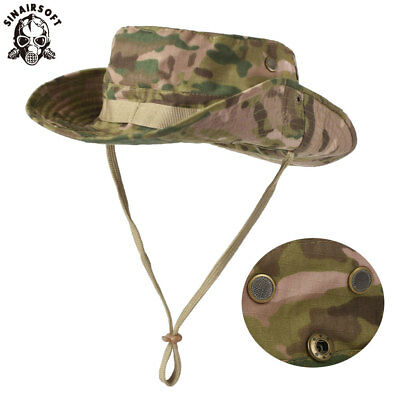 Tactical Boonie Bucket Hat Millitary Army Camo Floppy Hats Hunting Wide Brim Cap