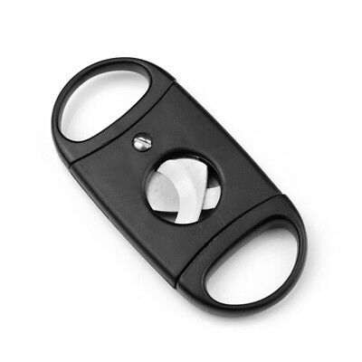 1PCS Black Stainless Steel & Plastic Cigar Cutter