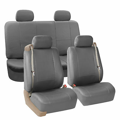 Surprising Car Seat Cover Highback Integrated Seatbelt Full Set Gray Caraccident5 Cool Chair Designs And Ideas Caraccident5Info