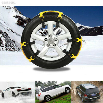 9667 Car Vehicle Truck SUV Safe Snow Tire Wheel Chain Anti-skid Universal Yellow