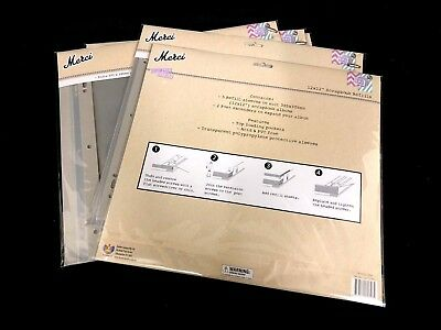 "30  Scrapbook Refills 12"" x 12""  With Post Extenders  Acid Free Clear New"