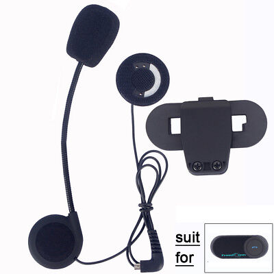 Motorcycle Bluetooth Helmet Interphone Microphone/Headphone Headset + Clip Mount