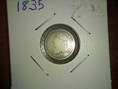 1835 Capped Bust Half Dime  5C Early Silver Half Dime FREE SHIPPING