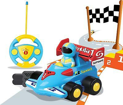 Cartoon RC Race Car Remote Control Toy Kids Toddlers Birthday Gift Present