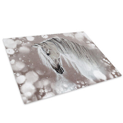 Orange Horses Abstract  Glass Chopping Board Kitchen Worktop Saver Protector