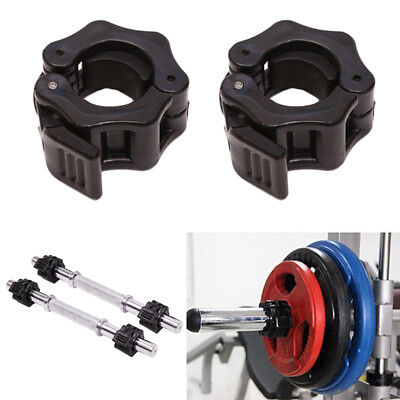 1/2PC 25MM Weight Lifting Bar Collars Home Gym Standard Barbell Lock Clamp UK