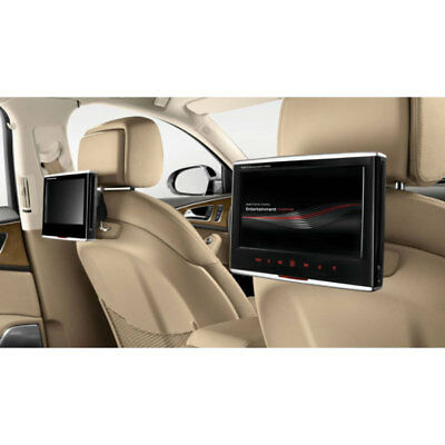 """New Genuine Audi Accessory Twin Backrest Mounted 9"""" Dvd Player Kit"""