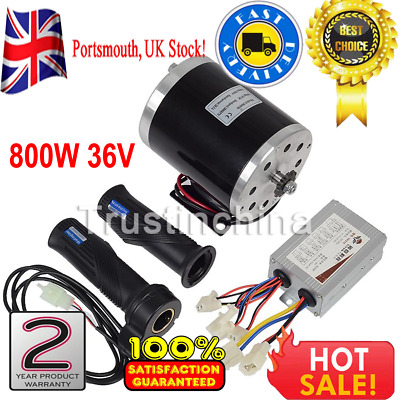 800W 36V Electric Motor MY1020 kit w/ Base Speed Controller & Throttle for Scoot