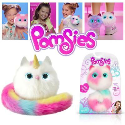 Pomsies Pom-Pom Fluffy Interactive Pets - Lights Up, Purrs and Talks!
