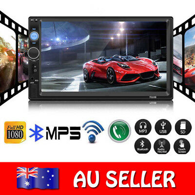 """7"""" Double 2 DIN Bluetooth Car Stereo Radio Mp5 HD Video FM Player Touch Screen"""