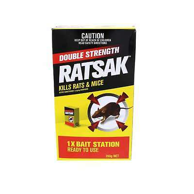 Ratsak Double Strength Rat Mouse Pellets Bait Station Warfarin Yates 350g