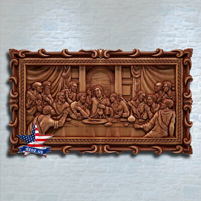 ❤️️Last Supper Lord`s Supper✅Wood carved 3D ART icon orthodox picture furniture