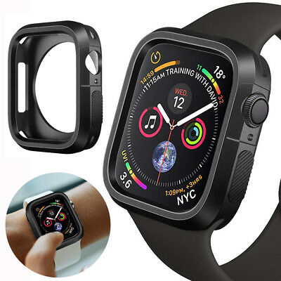 For Apple Watch Series 4 Silicone TPU Bumper Case Cover iWatch Protector 40/44mm