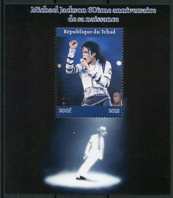 Chad 2018 MNH Michael Jackson 1v M/S II Popstars Music Celebrities Stamps
