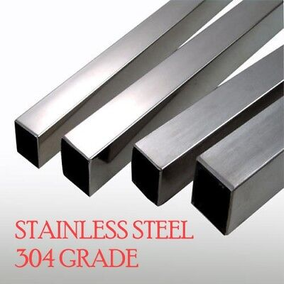 Stainless Steel SQUARE BOX Section grade 304 - 1 METER LENGTH - VARIOUS SIZES