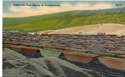 Vintage Anthracite Coal Mining in Pennsylvania Post Card