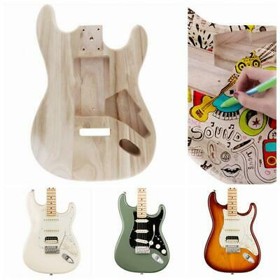 Electric Guitar Barrel Body Maple Polished Punched Fender DIY Painting Toys