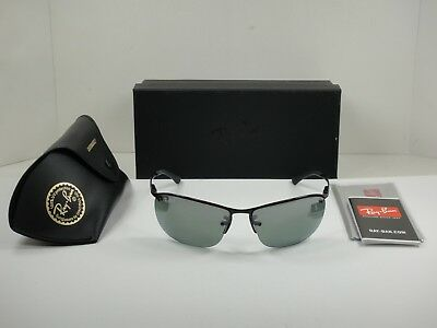 59a4218d83a Ray-Ban Chromance Polarized Sunglasses Rb3542 002 5L Black grey Mirror 63Mm