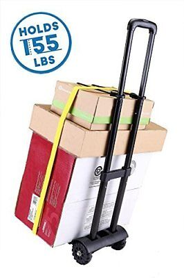 Folding Hand Truck 155 lbs Heavy Duty 4-Wheel Utility Cart Dolly Compact & Light