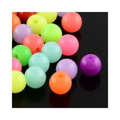 Acrylic Round Beads 8mm Mixed 50+ Pcs Art Hobby DIY Jewellery Making Crafts