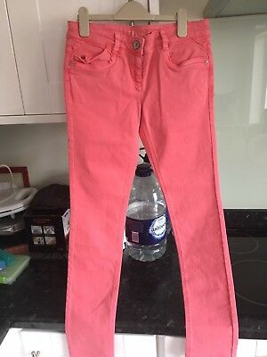 Girls Bright Pink Next Skinny Jeans - Size 14 yrs