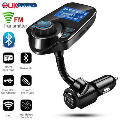 Wireless Bluetooth Handsfree Car Kit FM Transmitter LCD MP3 Player USB Charger