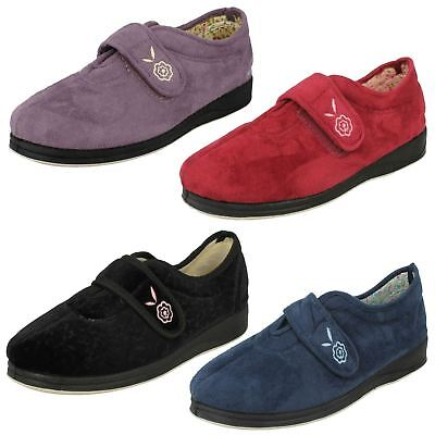 6c526dfbc7e8 NWT PADDERS CAMILLA Women Microsuede Adjustable Wide Slippers Memory ...