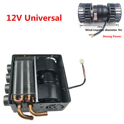 12v Universal Underdash Compact Heater 12pcs Pure Copper Tube 12-volt Portable Appliances Speed Switch Kit