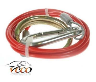RED SAFETY COUPLING BREAKAWAY TRAILER CABLE TOWING CARAVAN 1M x 2MM MP498B