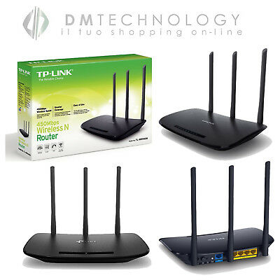 Router Wireless Tp-Link 450Mbps Wifi Access Point 4 Porte Lan Tl-Wr940N