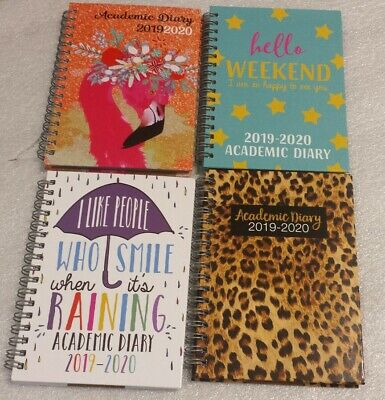 A6, 2019-2020 Academic Mid year Week to View Diary.Spiral Wiro bound Hardback
