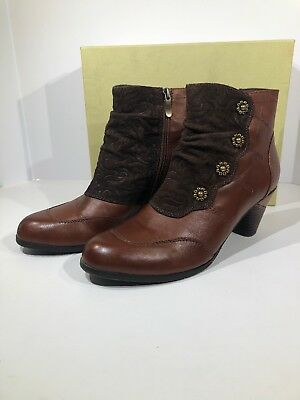 62aca9a97f7 L Artiste Spring Step Belgard Womens Sz 40 US 9 Brown Leather Boot Shoes X15