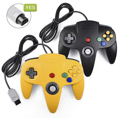 Controller Joystick Gamepad for Classic N64 Console Video Games Black / Yellow