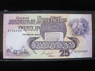 Seychelles 25 Rupees 1989 P33 Island Sharp 14# Bank Currency Money Banknote