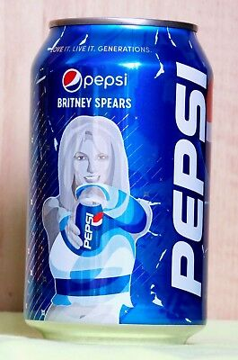 NEW Empty Pepsi Can from Ukraine Love It Live It Generations BRITNEY SPEARS 2018