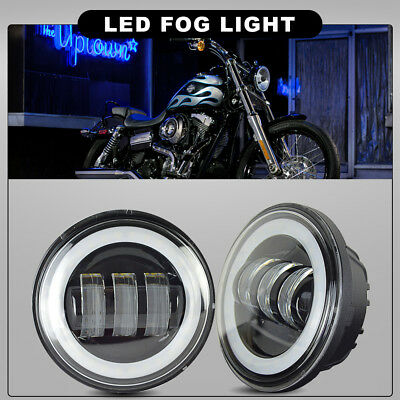 """4-1/2"""" 4.5"""" 60W Auxiliary Spot Fog Passing Light Fit Harley Davidson Motorcycle"""