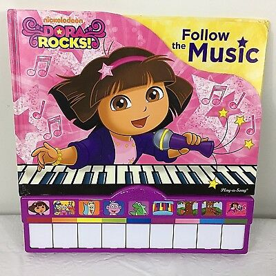 Nickelodeon Dora Rocks Follow the Music Piano Keyboard Book Play a Song Ages 3+