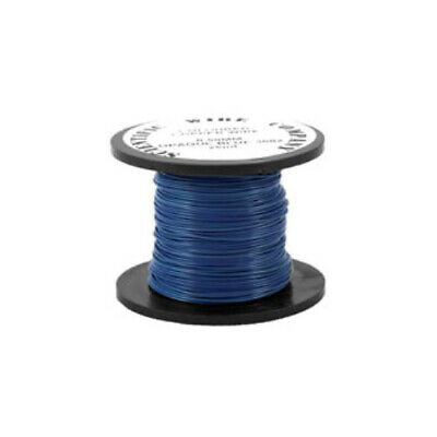1 x Blue Plated Copper 0.5mm x 15m Round Craft Wire Coil W5002