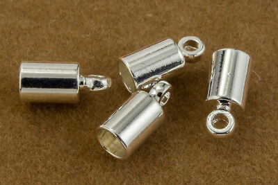 4mm Bright Silver Cord End Cap #MFB108