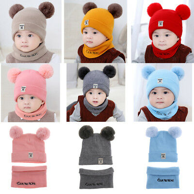 Prettyia Boys Girls Baby Wool Hat Child Beanie Shawl Hat One-piece Neck