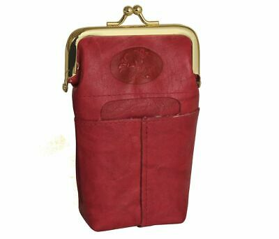 Buxton Buxton Heiress Red Leather Cigarette Case Handbags and Accessories
