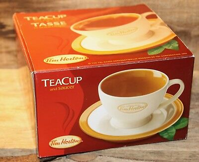 Tim Hortons Tea Cup And Saucer In Original Box Unused Condition 2006 +