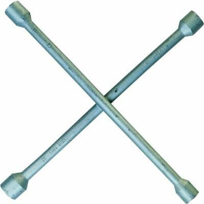Cartrend 50152 Chiave a croce in acciaio, larghezze chiave 17, 19, 21 e 23 mm -