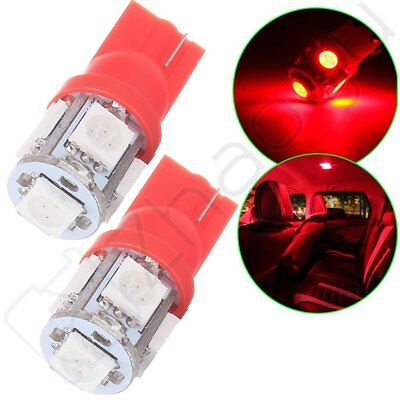 2pcs T10 5-SMD 5050 LED bulbs For  Truck RV Trailer Interior Map Light Lamps Red
